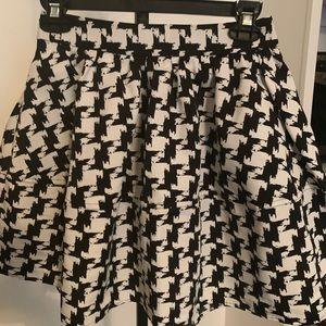 Express Houndstooth midi skirt